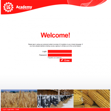 Site LG Academy E-learning